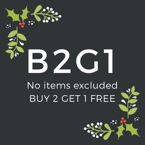 Buy 2, Get 1 Free! No items in closet excluded.